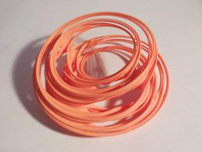 Unit Circle Julia Sets (0°) in Orange Processed Versatile Plastic