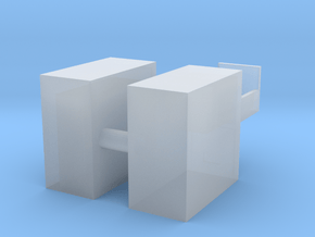 1/64 Filing Cabinet 2 drawer in Smooth Fine Detail Plastic