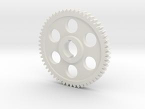"56T Atlas/Craftsman 12"" lathe Change Gear in White Natural Versatile Plastic"