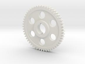 "52T Atlas/Craftsman 12"" lathe Change Gear in White Natural Versatile Plastic"