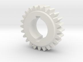 "24T Atlas/Craftsman 12"" lathe Change Gear in White Natural Versatile Plastic"