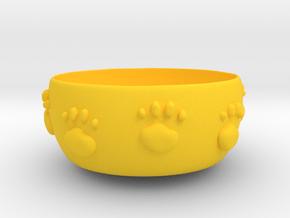 Cat food bowl A in Yellow Processed Versatile Plastic: Medium