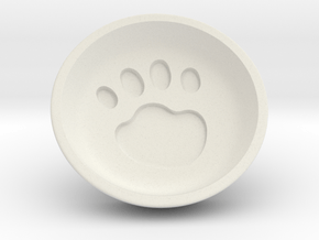 Cat soy sauce dish in White Natural Versatile Plastic: Small