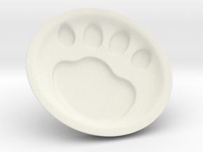 Cat soy sauce dish A2 in White Natural Versatile Plastic: Medium