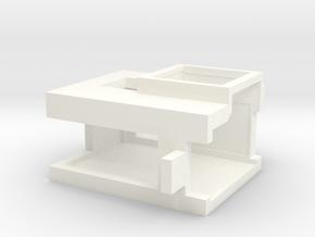 Bottom Access Hero 5/6/7 Mount (Flat Back) in White Processed Versatile Plastic