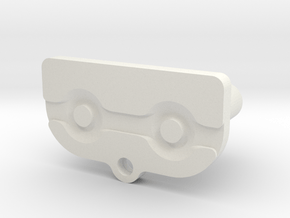 GBA Start / Select Button in White Natural Versatile Plastic