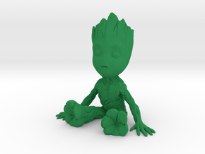 1/12 Baby Groot Cell Phone Base/Stand in Green Processed Versatile Plastic