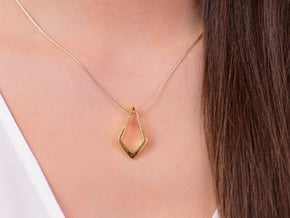 HIDDEN HEART Lucent, pendant. Pure Elegance. in 18K Gold Plated