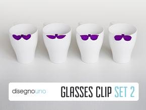 Party Accessories | Glasses (4 pz) in Purple Processed Versatile Plastic