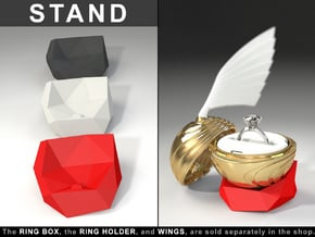 """STAND (STONE MODEL) - To """"Coral Snitch"""" Ring Box in Red Processed Versatile Plastic"""