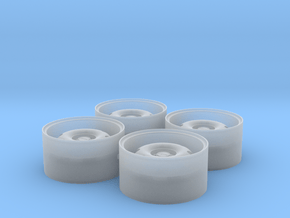 """1/24 Rim Set 17"""" Ats Cup Style in Smoothest Fine Detail Plastic"""