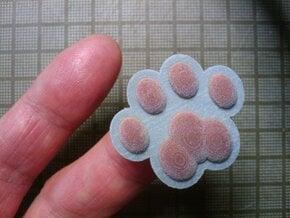 Cat Paw Object - 32_32_2-0_s48 in Full Color Sandstone