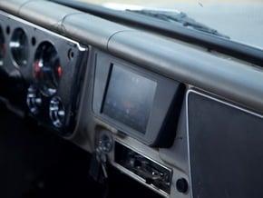 67-72 Chevy C10 Nexus Tablet Dash Mount in Black Natural Versatile Plastic