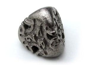 Art Nouveau d4 in Polished Nickel Steel