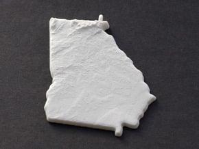Georgia Christmas Ornament in White Natural Versatile Plastic