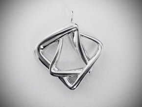 Heptas Style in Rhodium Plated Brass
