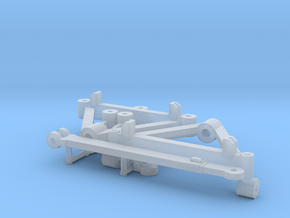 1/64 Wagon Running Gear in Smooth Fine Detail Plastic