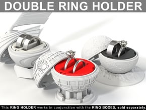 DOUBLE RING HOLDER (REGULAR) To (*) ALL RING BOXES in Red Processed Versatile Plastic