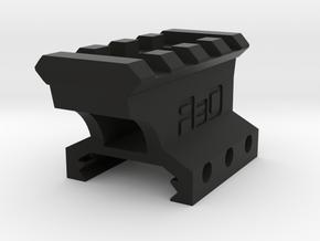 22mm High 3 Slots to 4 Slots Picatinny Riser (Offs in Black Natural Versatile Plastic