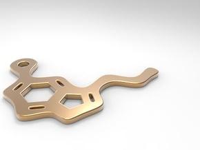 Serotonin pendant in Polished Bronze