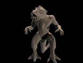 creature, 4 cm in White Natural Versatile Plastic