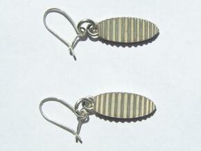 Pair of Waves Earrings in Natural Silver