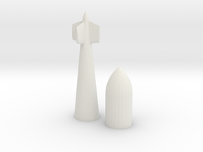 Tallboy 3D Printed in White Natural Versatile Plastic