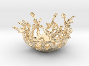 Beauty Nest in 14k Gold Plated Brass