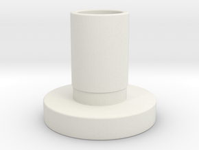"""Atlas 12"""" lathe gear sleeve (same as part 9-73A) in White Natural Versatile Plastic"""