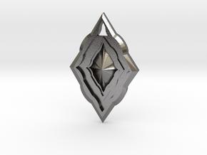 Diamond Pendant in Polished Nickel Steel