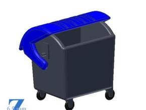 Abfallcontainer 1100L (1/220) # in Smooth Fine Detail Plastic