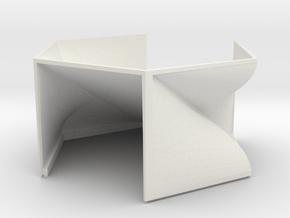 bottom_exit in White Natural Versatile Plastic