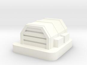 Mini Space Program, Base Hangar in White Processed Versatile Plastic