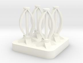Mini Space Program, Wind Turbines in White Processed Versatile Plastic