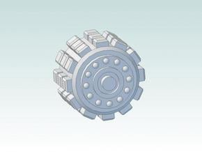15mm Armored Tire (Large) in Smooth Fine Detail Plastic