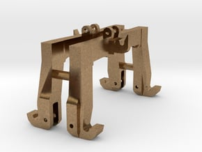 (2) GREEN 3 POINT CAT 3N/3  QUICK HITCH - BR  in Natural Brass