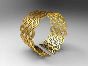 Bracelet Waw Stl in Polished Gold Steel