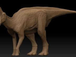 Lambeosaurus m. Standing Small in White Natural Versatile Plastic