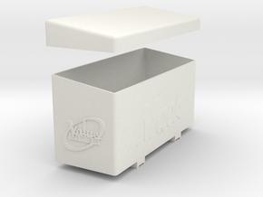 Valueliner-T-box in White Natural Versatile Plastic