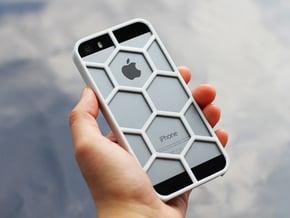 iPhone SE/5/5s DIY Case - Hexelion in White Processed Versatile Plastic
