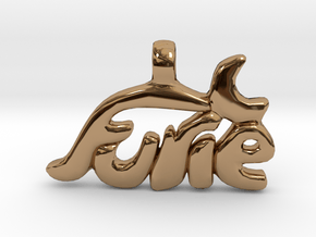 Furie Witch Logo in Polished Brass