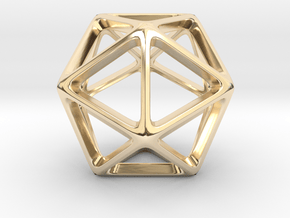 Geodesic Wire ::: Triangle Pendant in 14k Gold Plated Brass