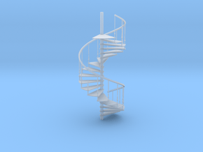 Cast Iron Spiral Staircase in Smooth Fine Detail Plastic