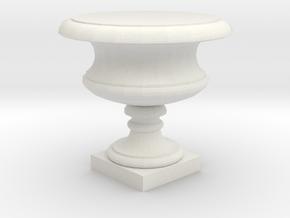 Urn in White Natural Versatile Plastic