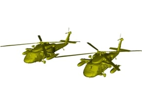 1/400 scale Sikorsky UH-60 Black Hawk x 2 in Smooth Fine Detail Plastic