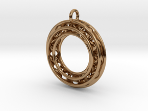 Pendant: Moebius Triple Ø 30mm in Polished Brass