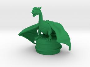 Fantasy Dragon Bottlestopper in Green Processed Versatile Plastic