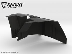 AJ50001 SCX10 II JK & G6 body Inner Fender FRONT in Black Natural Versatile Plastic