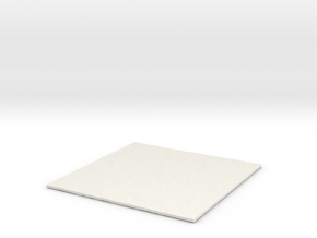 moon surface 1 in White Natural Versatile Plastic
