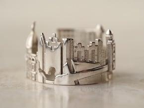 Atlanta Georgia Statement Cityscape Ring in Polished Silver: 5 / 49